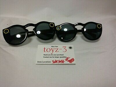 2 USED Black spectacles snapchat Snap Sunglasses