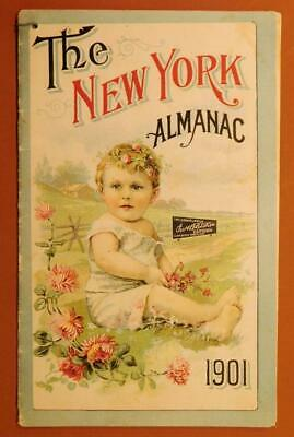 1901 The New York Almanac by Chas H Fletcher's Castoria Quack Medicine Bk6-3