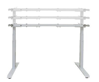 Electric Height Adjustable Standing Desk Frame Dual Motor Memory Control