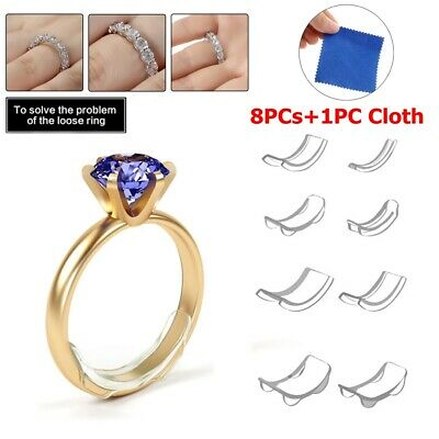 Jewelry Tighteners Reducer Ring Size Adjuster Set Adjuster Pad Resizing Tools