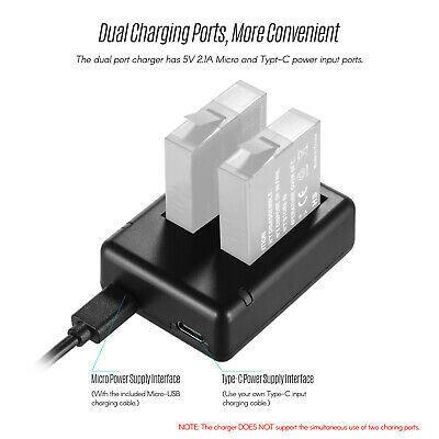 Dual-slot Camera Battery Charger USB Cable Indicator Light For Insta360 X E0M0