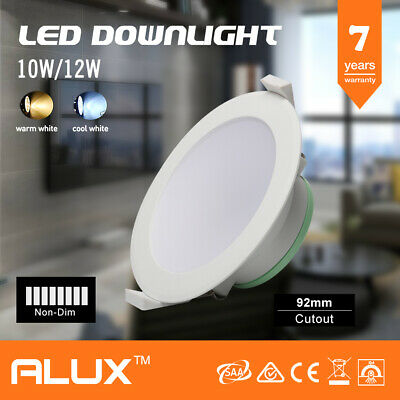 10W/12W Ip44 Non-Dimmable Led Downlight 92Mm Cutout Warm/Cool White Saa