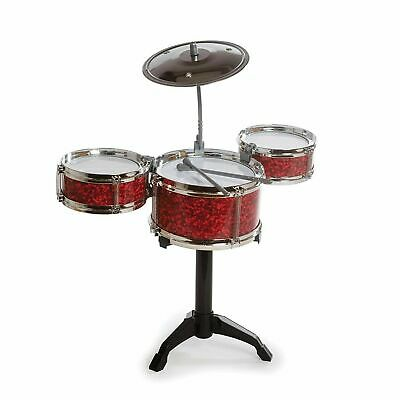 Kids Desk Top Drum Kit Miniature Musical Instrument Fun Novelty Toy Gift
