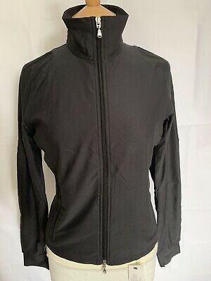 RLX RALPH LAUREN (M) Womens Black Zip Up Lightweight Mesh Sports Outdoor Jacket