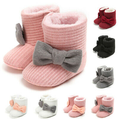 Infant Boots Baby Boys Girls Solid Shoes Anti-Slip Toddler Snow Warm Prewalker
