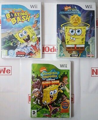 Sponge Bob Square Pants Game series (Wii) Multi Listing