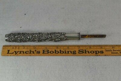 parasol umbrella handle sterling silver Victorian Unger Bros repousse antique