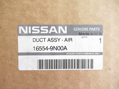 ONE NEW OEM 2009-2014 NISSAN MAXIMA UPPER AIR INTAKE DUCT 165549N00A 16554-9N00A