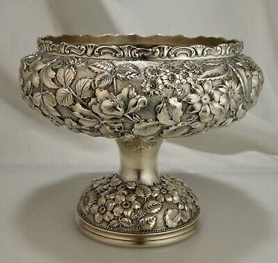 Jacobi & Jenkins Sterling Silver Repousse Footed Bowl 650g  - 57915