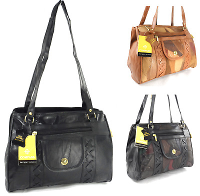 New Ladies Real Leather Shoulder Bag Fashion Handbag Multi Pocket Casual Handbag