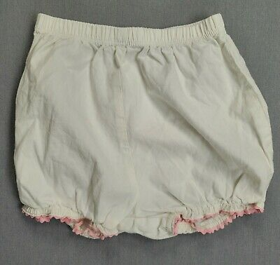 Baby Girl Cherokee 9 Month White Bloomers With Pink Trim Bloomers Shorts
