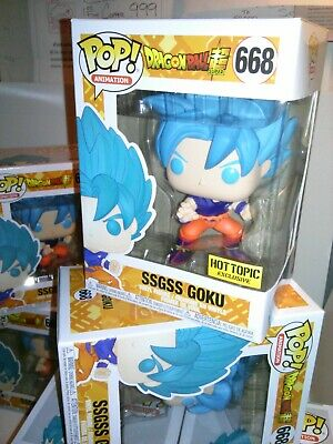 Funko Pop!*IN HAND*Dragon Ball Z - SSGSS Goku #668 Hot Topic Excl +FREE EcoTEK