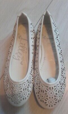 Womens Ladies New Diamante Shoes Sparkly Slip On Pumps for Wedding Bridal 01-2