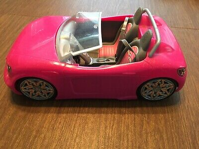 Mattel Barbie Car Pink Convertible Cruiser Sports Car 2013 Bdf38
