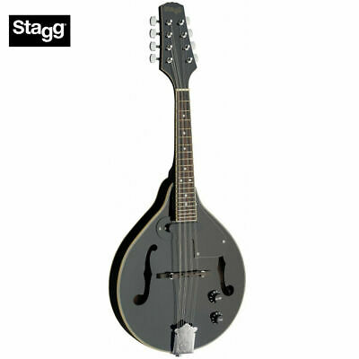 Stagg M50 E Premium A Style Bluegrass Acoustic Electric Mandolin - Black - New