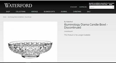 Waterford Illuminology Diama Crystal Candle Bowl