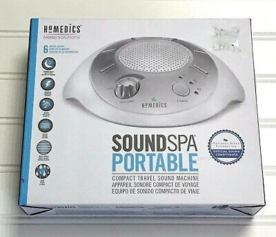 NIB HoMedics Sound Spa Portable White Noise Machine Baby Soothing Sleep Travel