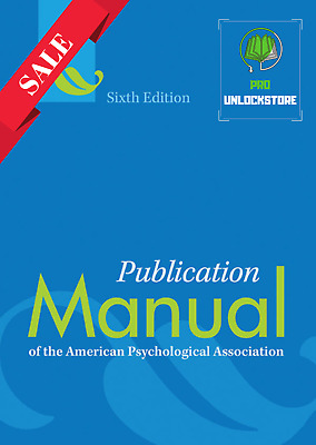 Publication Manual of the American Psychological Association 6th Edition [P.D.F]