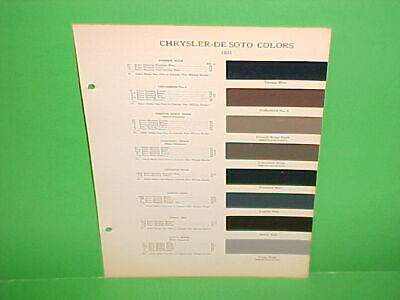 1935 Chrysler Imperial+ Desoto Airflow Airstream Convertible Coupe Paint Chips