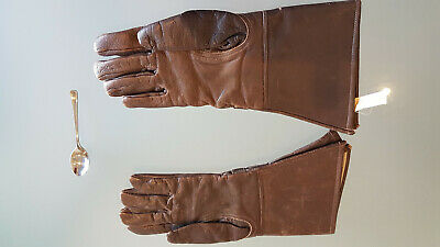 Vintage Leather Motorcycle Gloves By A.w. Hanson, Pty Ltd Nsw. Pretty Good Too.