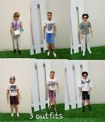 3 Outfit At Random Pick For Ken Dolls Daily Clothes