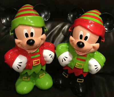 Disney Parks 2015 & 2016 Merry Christmas Mickey Mouse Elf  Popcorn Buckets