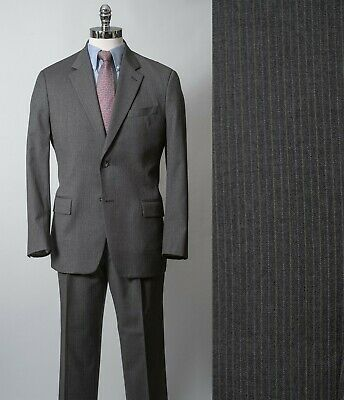 Michael Kors Gray Pin Striped Suit Pure New Wool 40R 33x31