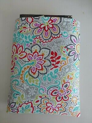 Multi Coloured Floral Design Book Buddy*Padded Fabric sleeve