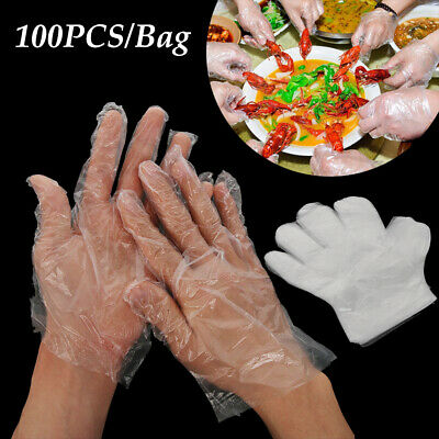 Kitchen Transparente PE One-off Ecological BBQ Plastic Disposable Gloves