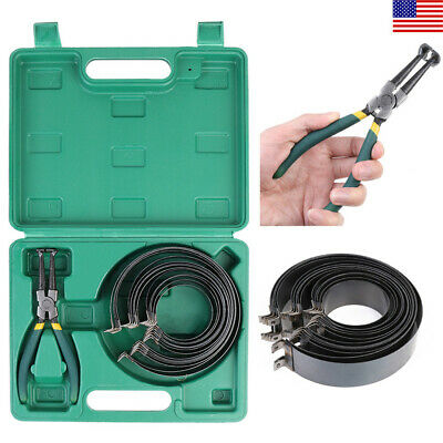 Professional Piston Ring Compressor Cylinder Installer with Plier & 14 Band Tool