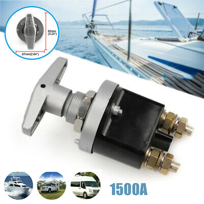 1500A Battery Isolator Disconnect Switch Power Kill Cut Off for Marine RV Truck