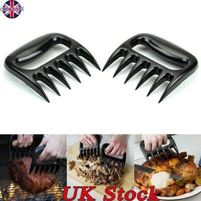 New 2PC Pulled Pork Shredder Meat Bear Claws Handler Shredding Forks Smoked UK