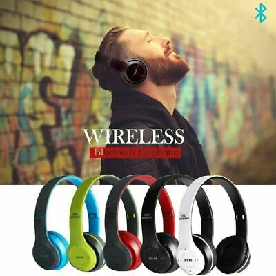 P47 New Foldable Wireless Bluetooth Stereo Headset Handsfree Headphones +Mic