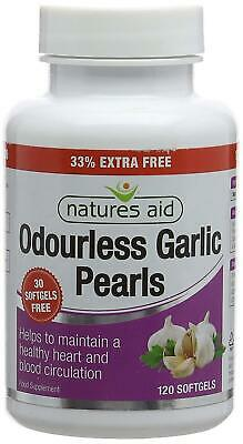 Garlic Pearls, Odourless, No After-Taste, Softgel 120 Capsules
