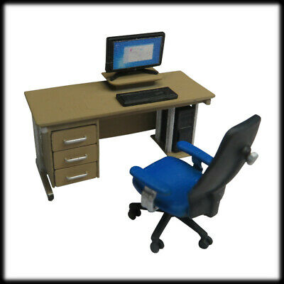 1x OFFICE FURNITURE SMALL SET 2 1:43 scale, O guge, 7mm InteriorFurniture Scene