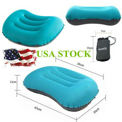 Ultralight Portable Air Inflatable Pillow For Hiking Camping Travel/w