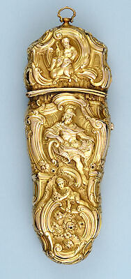 Very Rare Gold Repousse Sewing Etui