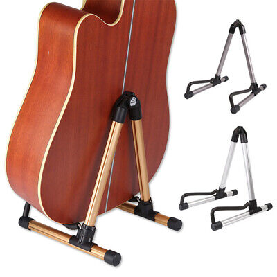 Portable Folding Electric Acoustic Guitar Stand Floor Rack Holder Lightweight