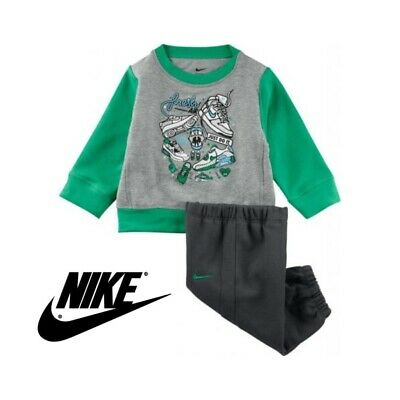 Nike Kids Infant Tracksuit Top Bottoms Baby Boys Girls Jog Suit 6/12 Months NEW