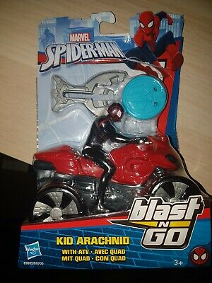 b9995 Marvel Spiderman-Spiderman Figure Car Blast and Go Kid Arachnid