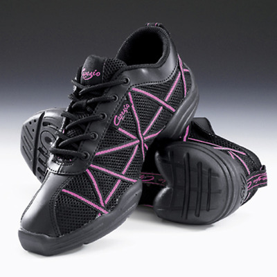 Black and Pink capezio web split sole dance sneakers - all sizes
