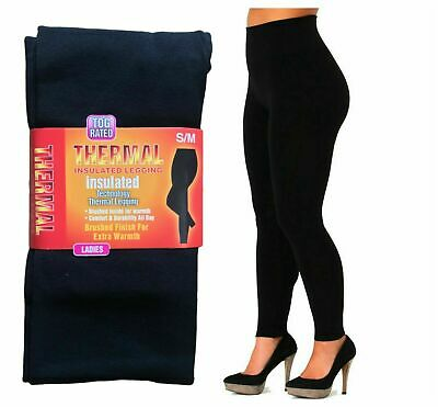 Ladies Women Thermal Legging Fleece Lined Winter Thick Black 2.3 Tog Rated S-Xxl