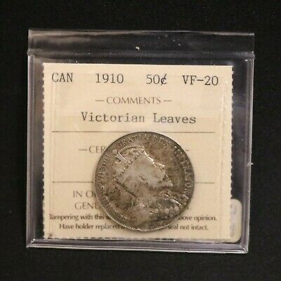 Canada 1910 50 Cent Victorian Leaves  VF