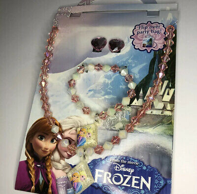 NEW Frozen Jewellery Set With Foldable Party Bag