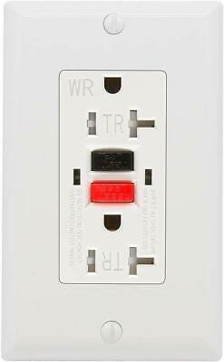 GFCI Outlet 20 Amp, UL Listed TR&WR Receptacle Indoor or Outdoor Use,Wall Plate