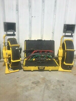 lot #1 (2) Sewer Camera Reel's and Skids