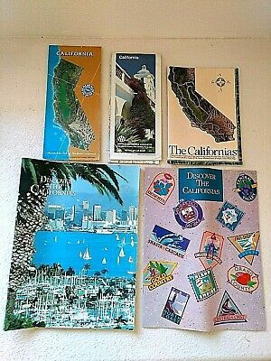 AAA Road Maps ARCO Travel Guides Discover Californias Lot of 5 Vtg 1980s-1990