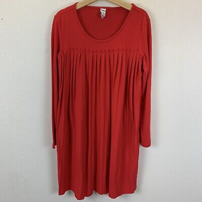 Old Navy Girls Long Sleeved Pleated Dress Red Size S 6-7 Holiday Christmas