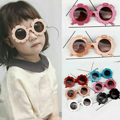 Kids Anti-UV Sunglasses Boys Baby Girls Children Flower Frame Goggle Glasses New