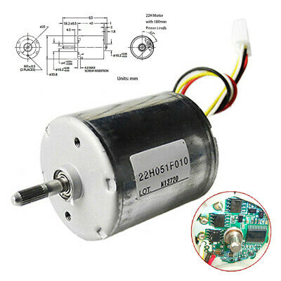 22H051F 12-24V Brushless DC High Torque Dual Ball  Bearing PWM BLDC Motor